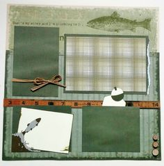 12x12 Fishing Scrapbook 12x12 Fishing Premade by ohioscrapper