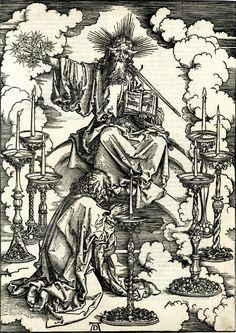 Апокалипсис (Дюрер) Видение Иоанном семи светильников. 1496-1498