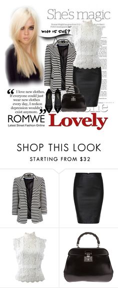 """Romwe"" by deskaj on Polyvore featuring Nicole, Wallis, Oscar de la Renta, Gucci, Yves Saint Laurent and Chantal"