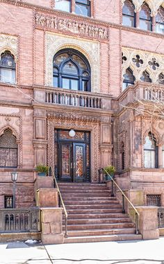 Montauk Club - Park Slope, Brooklyn a block from Grand Army Plaza -- there's beautiful detail work on this building!