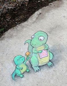David Zinn added a new photo to the album soothingly self-destructing Art.