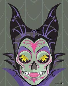 Maleficent Sugar Skull
