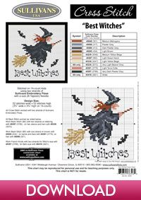 Autumn Collection Best Witches; free cross stitch from Sullivans