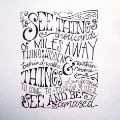 """""""To see things thousands of miles away..."""" Time Magazine Quote from the Secret Life of Walter Mitty"""