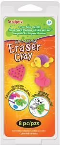 Sculpey Clay Kit 1 oz 8 Colors / Pkg-Amazing Eraser Clay W/ Sculpting Tools! Art Kits For Kids, Crafts To Make, Diy Crafts, Oven Bake Clay, Clay Set, Baking Clay, Sculpey Clay, Clay Creations, Sewing Stores