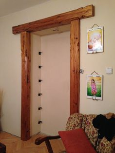 i reused wood for a new doorframe