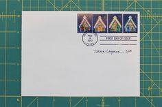 Gingerbread house stamps set of 4 autographed by teresalayman