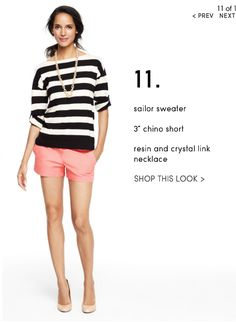 ♥ stripes especially with colored shorts!