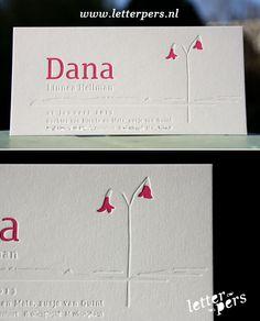 letterpers_letterpress_geboortekaartje_Dana_bloem_preeg