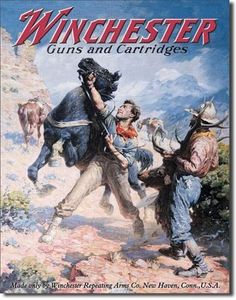 Vintage Winchester rifle ad with horse