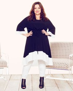 Fashion style plus size melissa mccarthy 26 ideas Big Girl Fashion, Curvy Fashion, Look Fashion, Plus Size Fashion, Autumn Fashion, Fashion Black, Fashion Ideas, Hi Low Dresses, Plus Size Dresses
