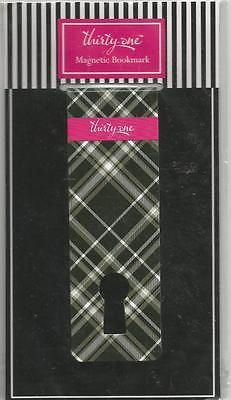 Thirty One Magnetic Bookmark Black Pick Me Plaid Book Mark