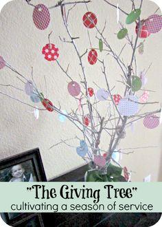 DIY Giving Tree {Holiday Craft} I Heart Nap Time | I Heart Nap Time - Easy recipes, DIY crafts, Homemaking