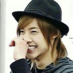 Kim Hyun Joong 김현중 ♡ hat ♡ long hair ♡ laugh ♡ smile ♡ Kpop ♡ Kdrama ♡