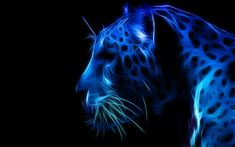 Blue Abstract Art | PANTHER, art, blue, fractal, panther