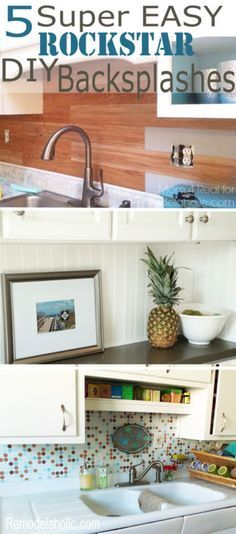 Amazing backsplash ideas that you can DIY in a weekend -- makes for a quick kitchen update! #spon