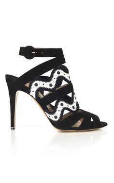 Nicholas Kirkwood for Prabal Gurung Black  amp  White Bootie   shopitrightnow Black And White Sandals a0aa5c1445fe