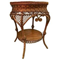 Heywood Wakefield Cane Table, early 20th c