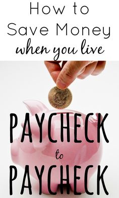 After paying the bills there may not be much money left, but with a few changes you are able to save money even if you currently live paycheck to paycheck.