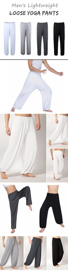 Men's Yoga Loose Pants / Morning Practice Sports Pants