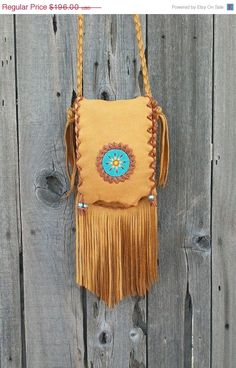 Artful Creations by Ivy on Etsy Leather Pouch, Leather Purses, Leather Shoulder Bag, Leather Handbags, Leather Jewelry, Leather Craft, Hippie Purse, Seed Bead Patterns, Handmade Purses
