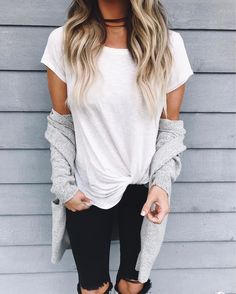 Sarah Knuth: My favorite twisty tee just got restocked in white.  It's only $22 and I wear mine way too much...