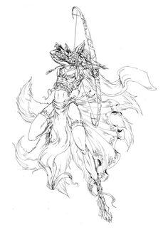 Kitsune Archer by jeddibub