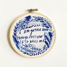 820 Likes, 13 Comments - Lauren Singleton Draper James, Word Art, Flask, I Can, The Creator, Coin Purse, Blue And White, My Love, Needlework