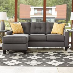 New Arrival! Ivy Sectional only $999 including tax & free local delivery! #sofa #palluccifurntiure https://www.palluccifurniture.ca/ivy-fabric-reversible-sectional-grey/