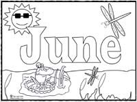 Click image to print June coloring page