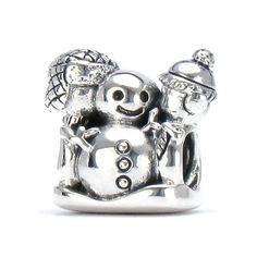 Bella Fascini Making A Snowman - SNOW DAY FUN - Cole Collection - Solid 925 Sterling Silver European Charm Bracelet Bead - Compatible Brands: Authentic Pandora, Chamilia, Moress, Troll, Ohm, Zable, Biagi, Kay's Charmed Memories, Kohl's, Persona & more! Bella Fascini Beads,http://www.amazon.com/dp/B00F1YOESE/ref=cm_sw_r_pi_dp_oR0Rsb0RS9MJYNNC