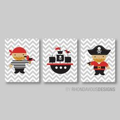 Hey, I found this really awesome Etsy listing at https://www.etsy.com/listing/190677635/pirates-and-pirate-ship-print-trio