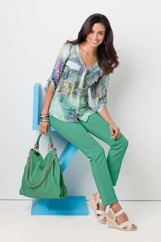 Embrace the exotic and add bold-mint jeans, trendy but timeless #SteinMart