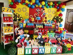 Fiesta de Pinocchio! #festapinoquio #pinocchioparty #fiestasinfantilesbogota Dumbo Birthday Party, Baby Boy 1st Birthday, Boy Birthday Parties, Baby Party, Festa Toy Story, Pinocchio, Magic Party, Birthday Numbers, Circus Party