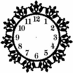 Saat Clock kıl testere Scroll saw Scroll Saw Patterns, Scroll Design, Cnc Cutting Design, Laser Cutting, Clock Face Printable, Corte Plasma, Alpona Design, Floral Clock, Gear Clock