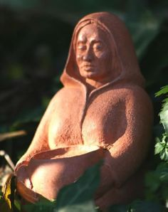 Cerridwen the Crone, beautiful terracotta altar statue by Karen Mander, displaying the Crone of transformation, with Her Cauldron of Wisdom True Nature, Samhain, Heaven On Earth, Terracotta, Celtic, Garden Sculpture, Statue, Artist, Beautiful