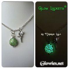 Inspired by the stories of Tinkerbell and glowing fairy necklaces. Charm slides on or off and is on a sturdy jump ring. Wear in sunlight. Delicately and professionally handmade by Monique Lula in my smoke free jewelry studio in California, USA! The little glowies store that started the whole trend! Add genuine birthstone crystal to this necklace to personalize your Glowies ™ Is this a gift? Add a Gift Box. You can also add some charms to personalize your purchase. When ordering from…