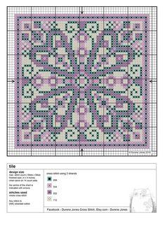 01.05.2018 - Gallery.ru / Фото #17 - Durene Jones - BlueBelle #colourcomplements #stitchdesign #stitchpattern