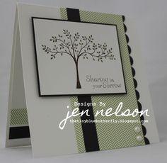 Jen's beautiful sympathy card