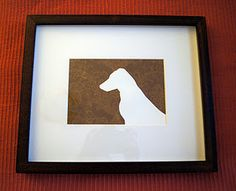 DIY Dog Silhouette (of your own favorite pet)!