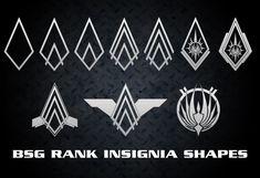 Bsg ranks (4eme en haut: captain)