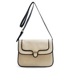 MANGO Messenger colored edges ($40) ❤ liked on Polyvore featuring bags, mango, bolsas, bolsos, purses, beige, messenger bag, beige bag and mango bags