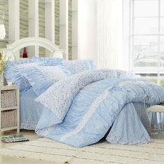 Flower-Blue Dream Cotton 4-piece Queen/King Size Duvet Covers on http://www.paccony.com/product/Flower-Blue-Dream-Cotton-4-piece-Queen-King-Size-Duvet-Covers-21844.html
