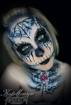 Face paint body art airbrush sugar skull day of the dead