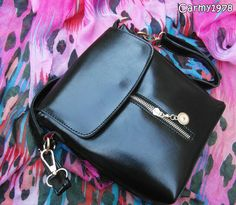 Black zipped bag