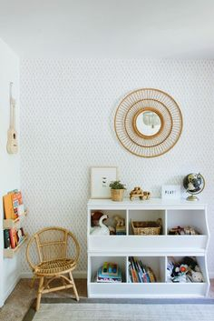 Caitlin's sharing her playroom before and after, as well as her tips for doing a room makeover on a budget.