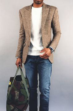 A Rugged But Modern Winter Look – Tip For Adding Personality To Your Blazer