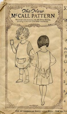 Early 1920s Vintage Sewing Pattern McCall 3392 by GreyDogVintage, $24.00