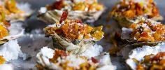 Learn how to make Oysters Gregory with grilled leeks, bacon and paprika.