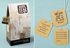 Literary Tag Teabags
